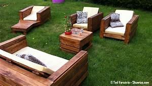 Fauteuil En Palette Facile : bricolage creer du mobilier de jardin avec des palettes en bois shunrize ~ Melissatoandfro.com Idées de Décoration