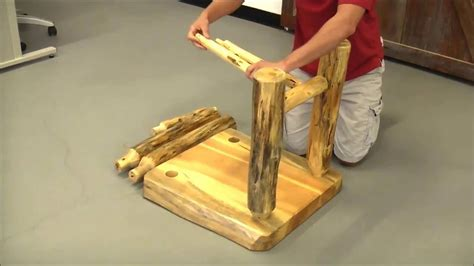 easy diy log furniture tools youtube