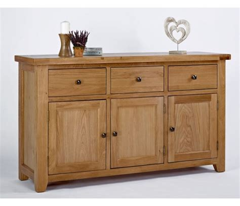 3 Door Sideboard by Oak 3 Door 3 Drawer Sideboard