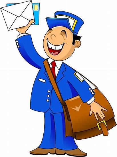 Clipart Postman Mail Transparent Clip Postwoman Carrier