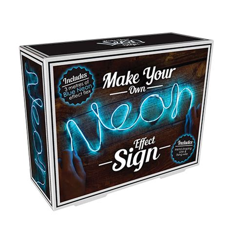 make your own led l make your own neon light blue england at home
