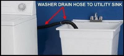 washer drains into sink washing machine in garage where do i let it drain