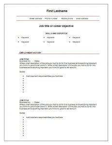 Blank Cv Template by 7 Free Blank Cv Resume Templates For Free Cv
