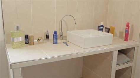realiser  plan vasque en salle de bains  hauteur