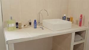 Plan De Toilette Bois : r aliser un plan vasque en salle de bains hauteur ~ Dailycaller-alerts.com Idées de Décoration