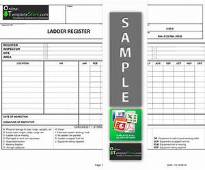 osha ladder inspection form quotes osha ladder inspection With kitchen cabinets lowes with ladder inspection stickers