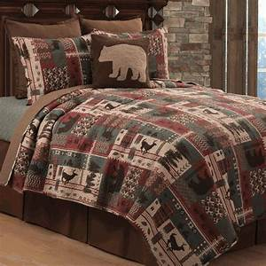 Wildlife Mountain Quilt Bed Set FullQueen