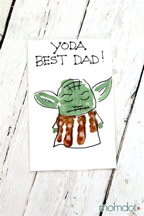 yoda  dad hand print card momdot