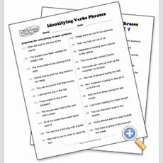 Identifying Verb Phrases  Worksheetworkscom  Teaching  Language  Pinterest Classroom