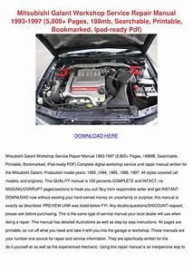 Mitsubishi Galant Workshop Service Repair Man By