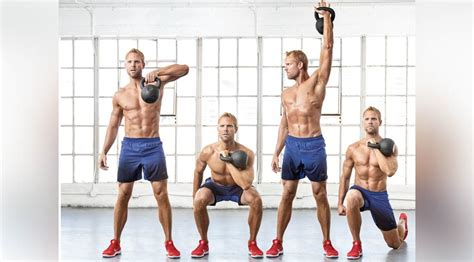 kettlebell workouts workout pull muscle arm single squat lunge minutes less take styles than military press routines russian reverse alternating
