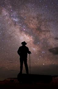 Man Looking at Star in the Sky