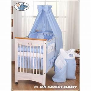 Parure De Lit Enfant : parure de lit b b prince ou princesse bleu linge de lit b b ~ Teatrodelosmanantiales.com Idées de Décoration