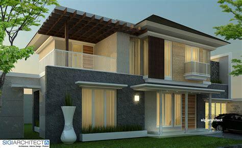 desain villa minimalis tropis desain rumah  lantai