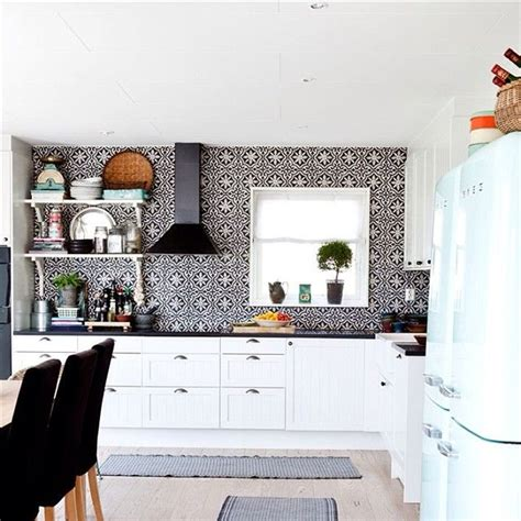 moroccan kitchen tile black and white kitchen with handmade arabic cement tiles 4279