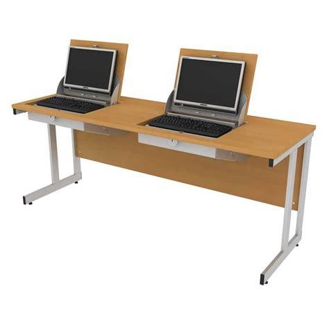 two person computer desk smart top ict desks two person flip top computer desks