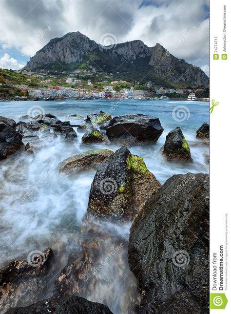 Seascape View Of Capri Island Italy Royalty Free Stock
