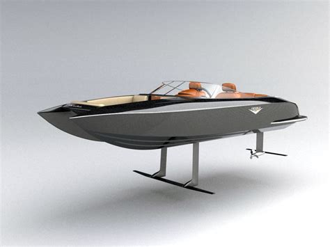 Hydrofoil Pontoon Boat by Speed Boat Electric Hydrofoil Sailing