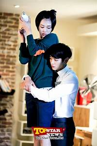 "Minho (SHINee) & Sulli (f(x)) on the set ""To the beautiful ..."