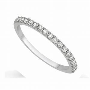 Affordable Diamond Wedding Band For Her In White Gold