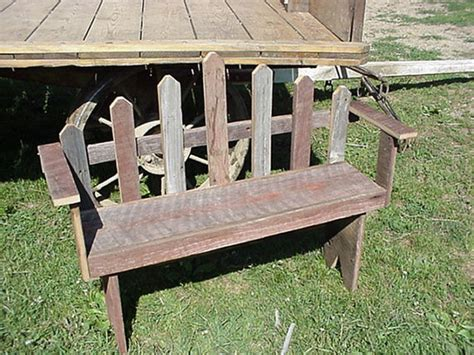 Amish Country Collectible Handmade 3 Foot Barn Wood Bench