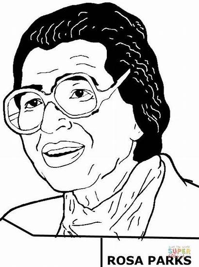 Coloring Rosa Parks Pages History African American