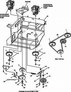 Bunton  Bobcat  Ryan 942237e Zt 225 25hp Klr W  61 Side Discharge Parts Diagram For Lower Engine
