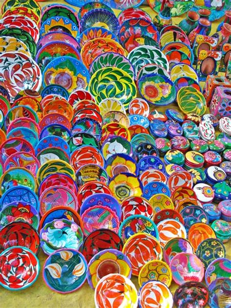 colorful dishes culture buried mirror reflections