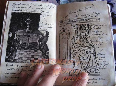 italian grail diary sarednabs world prop indiana