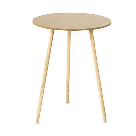 30 inch round particle board table 20 quot round decorator table bed bath beyond
