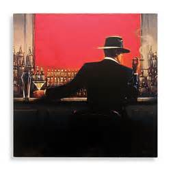 cigar bar man canvas wall art bed bath beyond
