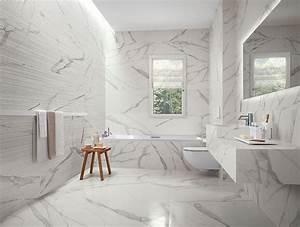 carrelage salle de bain effet marbre carrelage idees With carrelage marbre salle de bain