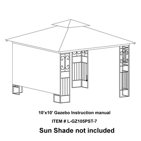 Fred Meyer L Shades by Fred Meyer 10 X 10 Scroll Design Replacement Canopy Garden