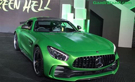 Mercedes benz amg gt is a luxury which comes with a petrol engine option, available in 3 variants and with a price range of inr 253.38 lacs to inr 280.65 office address: Mercedes-AMG GT R Comprehensive Image Gallery