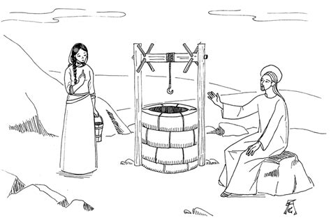 Woman At The Well Coloring Pages - Eskayalitim