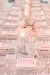 Nappe Rose Poudré : 14 jolies mani res de jeter du rose poudr dans votre d coration de mariage page 2 sur 2 ~ Teatrodelosmanantiales.com Idées de Décoration