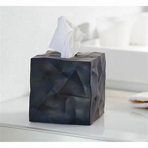 Boite A Mouchoir Original : bo te mouchoirs carr e design noire wipy essey 4305302 ~ Melissatoandfro.com Idées de Décoration