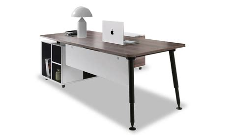 table bureau but contemporary stylish office table with side cabinet
