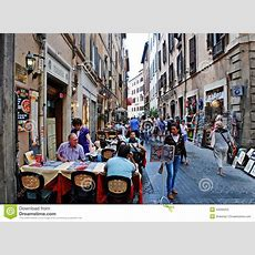 Old Street Of The Ancient Rome City Editorial Stock Photo