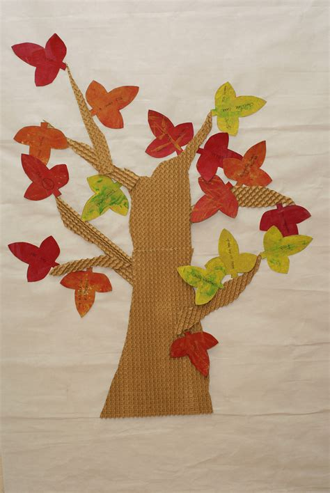 leaf projects the tree of gratitude a fall art project raised from scratch