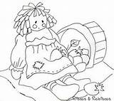 Flickr Coloring Pages Rag Patterns Riscos Rabiscos Doll Embroidery Raggedy Ann Ragdoll Printable sketch template
