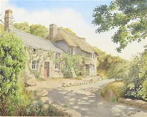 Nick Talbott - Penberth Cove Cottages, 1990,...
