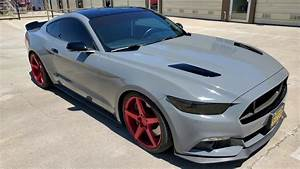 670hp Mustang wrapped in Gloss Dark grey (Nardo grey alternative) - YouTube