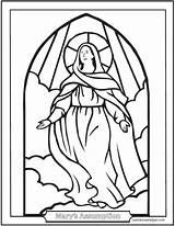 Assumption Religionsunterricht Assomption Feast Vierge Joseph Rosary Sacraments Saintanneshelper sketch template