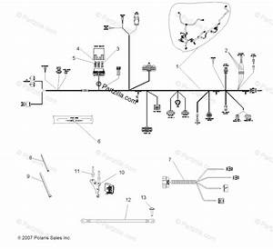 Polaris Atv 2008 Oem Parts Diagram For Electrical  Wire