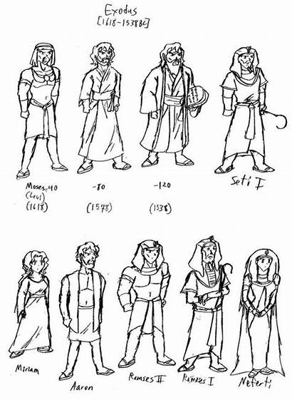 Bible Characters Coloring Character Clipart Sunday Clip