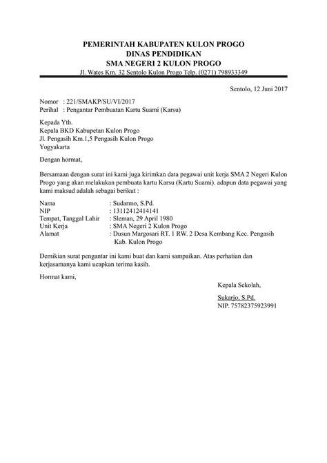 Contoh Surat Permintaa by Contoh Surat Pengantar Dari Kepala Sekolah Uts Kelas 6