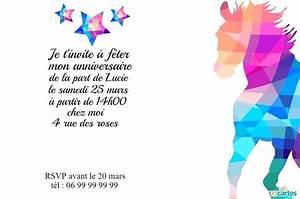 Invitation Anniversaire Fille 9 Ans : idee invitation anniversaire fille licorne gratuite ou 17 ~ Melissatoandfro.com Idées de Décoration