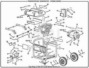 Homelite Ps5000 Series 5000 Watt Generator Parts Diagram