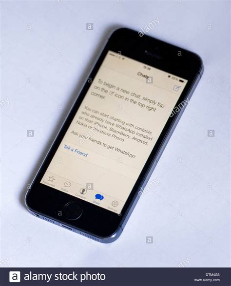 how to start a chat on iphone an iphone 5s on a white background showing the whatsapp